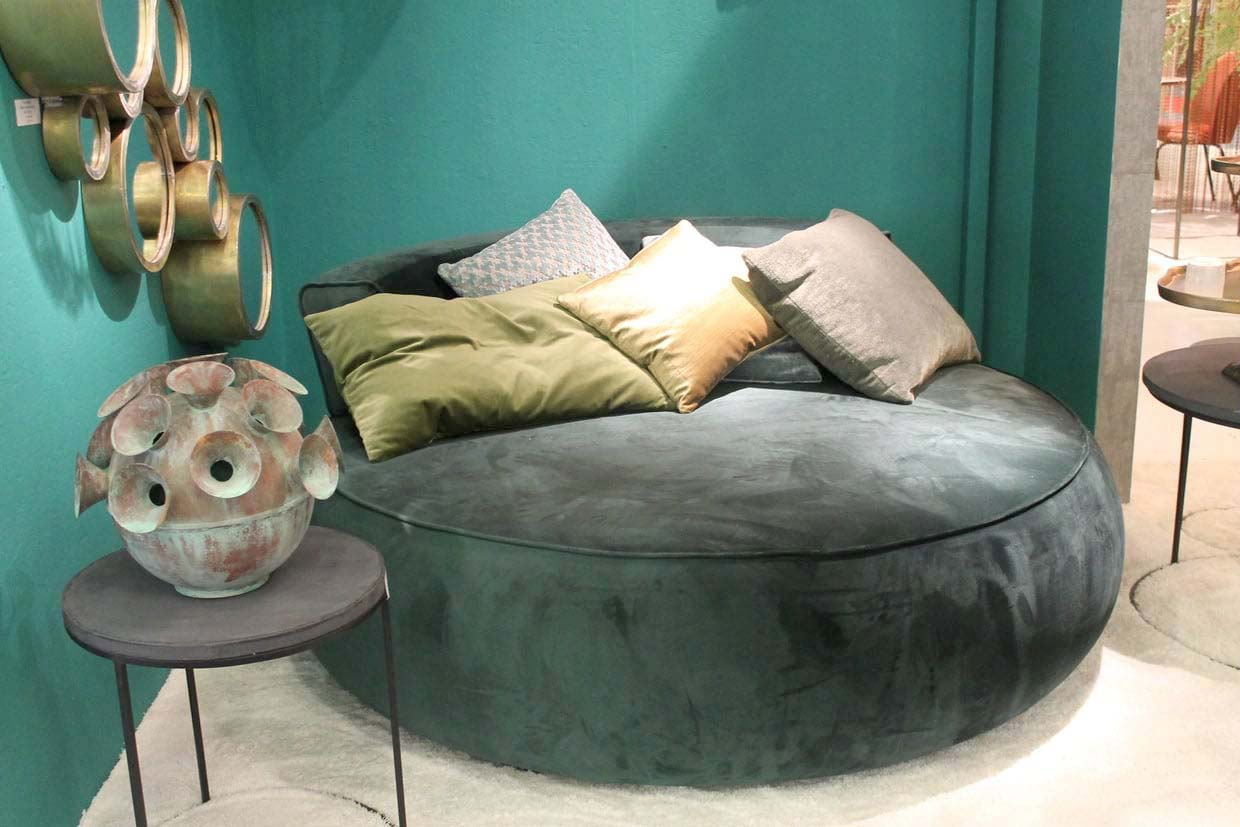 Day Bed Rond Vert Emeraude Home And Co