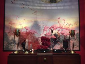 TABLEAU FLAMANT ROSES